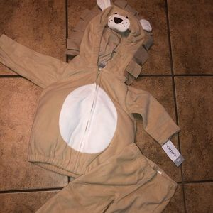 New Carters Lion costume soft 2 piece baby 12 mo